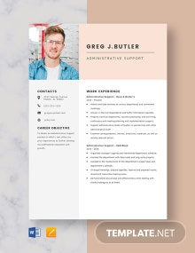 Administrative Support Resume Template