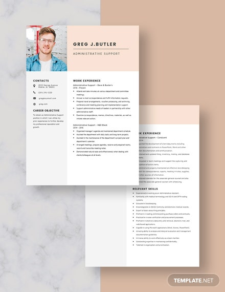 Administrative Support Resume Download