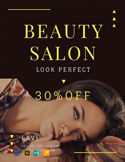 Free Beauty Salon Flyer Template