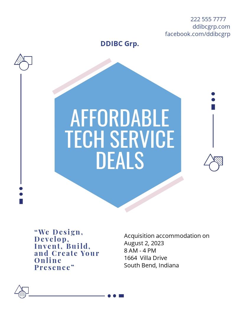 Tech Start-up Flyer Template