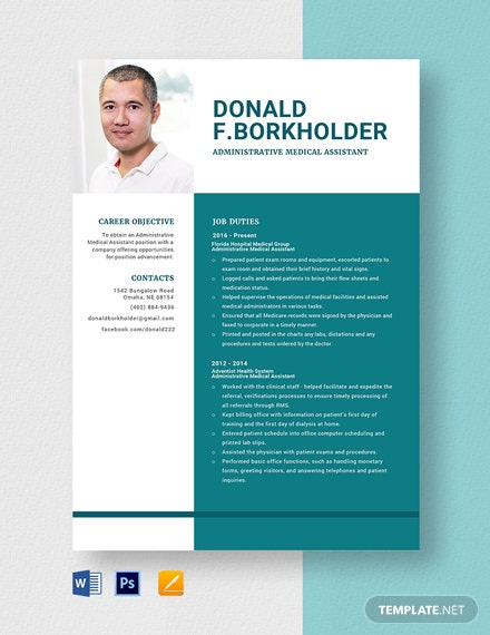 Administrative Medical Assistant Resume Template