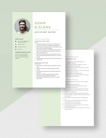 Assistant Buyer Resume Download