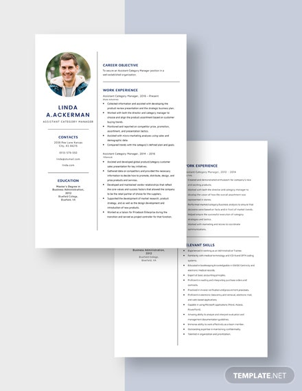 Assistant Category Manager  Resume Download
