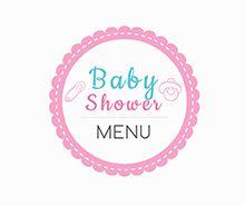 Free Baby Shower Menu template