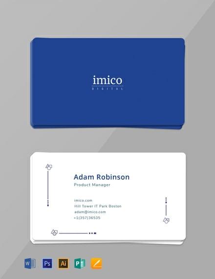 Free Tech Startup Business Card Template