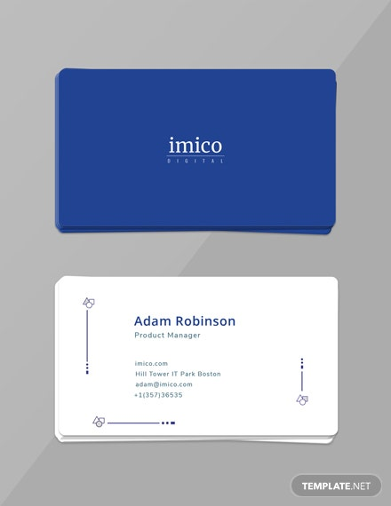 Free Tech Start-up Business Card Template
