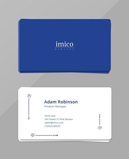 Free Tech Start-up Business Card Template