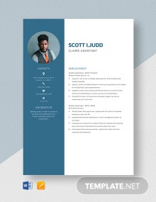 Claims Assistant Resume Template
