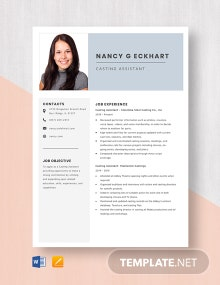 Casting Assistant Resume Template