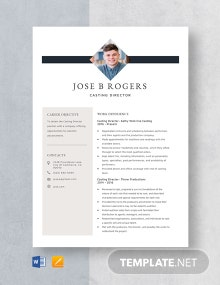 Casting Director Resume Template