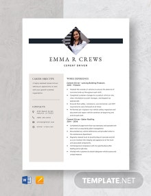 Cement Driver Resume Template
