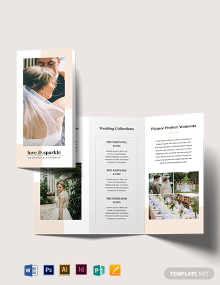 fall wedding brochure template