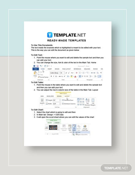 Estimate Sheet Instructions