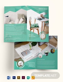 Free Interior Decor Bi-Fold Brochure Template