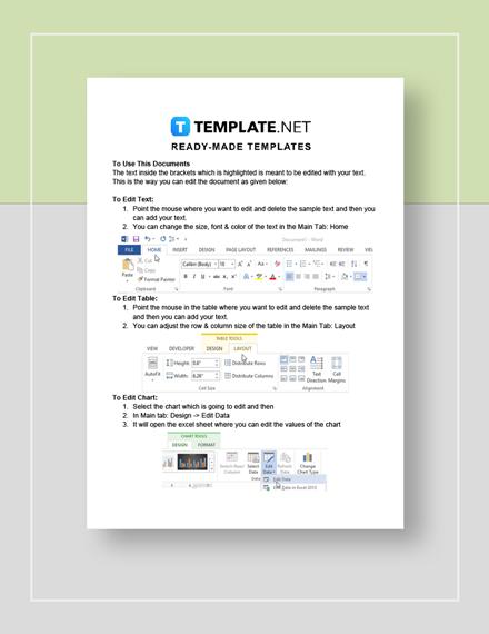 Non Profit Balance Sheet Instructions
