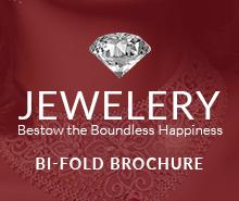 Free Designed Jewelry Bi-Fold Brochure Template