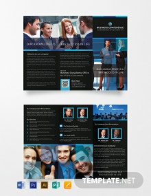 Conference A3 Tri-Fold Brochure Template