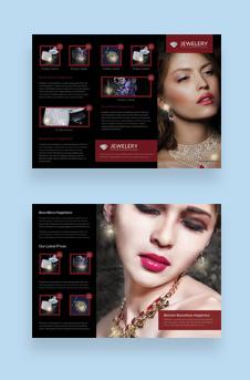 Free Designed Jewelry Tri Fold Brochure Template
