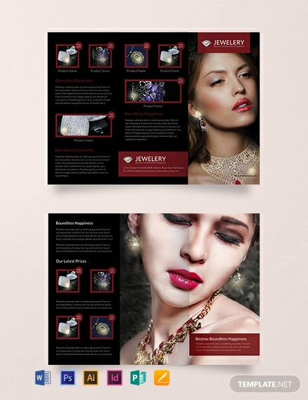 Designed Jewelry Tri-Fold Brochure Template