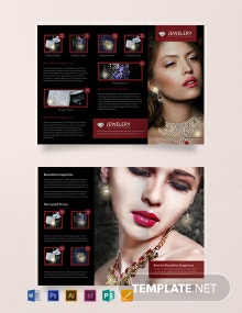 Free Designed Jewelry Tri-Fold Brochure Template