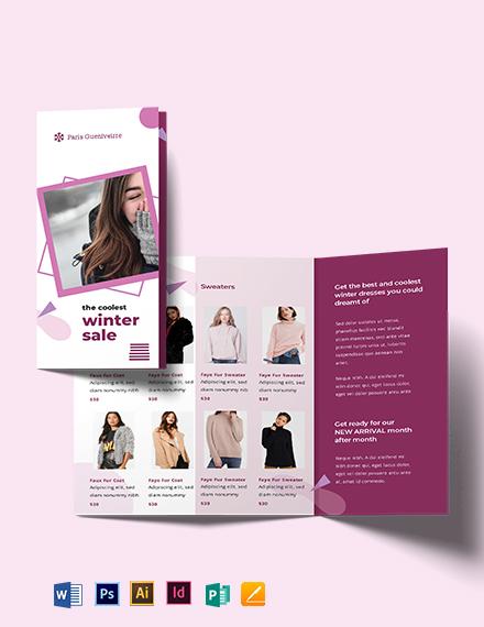 Winter Sale Brochure Template