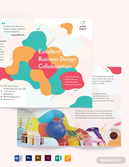 Business Event Bi-Fold Brochure Template