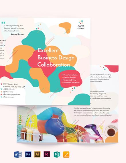 Business Event Bi-Fold Brochure Template