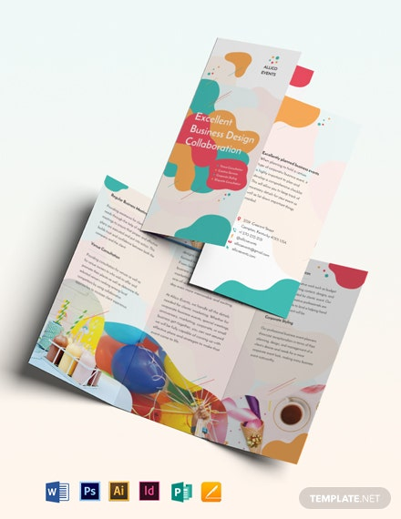 Business Event Tri-Fold Brochure Template