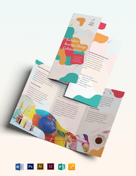 Business Event Tri-Fold Brochure Template