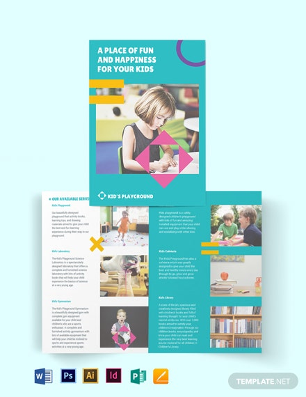 Play School Bi-Fold Brochure Template