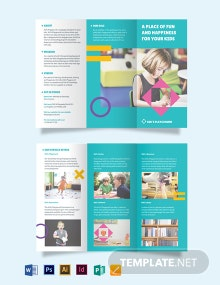 Play School Tri-Fold Brochure Template