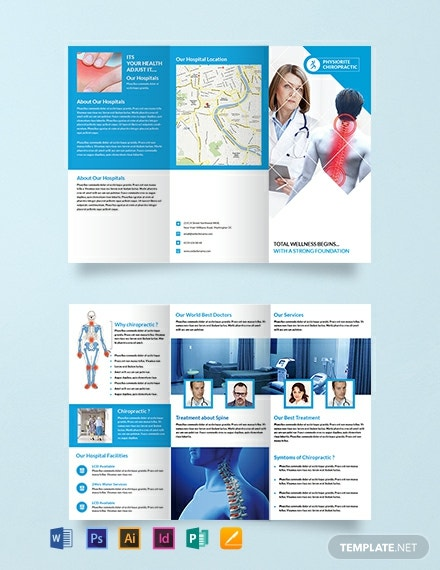 Free Chiropractic Tri Fold Brochure Template