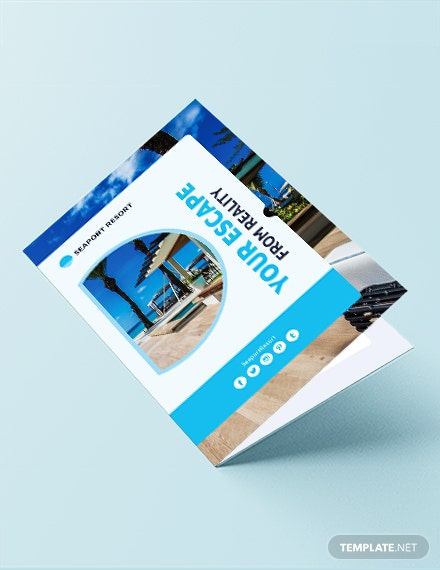 Beach Resort Bi-Fold Template