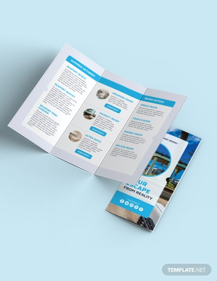 Beach Resort Tri-Fold Template