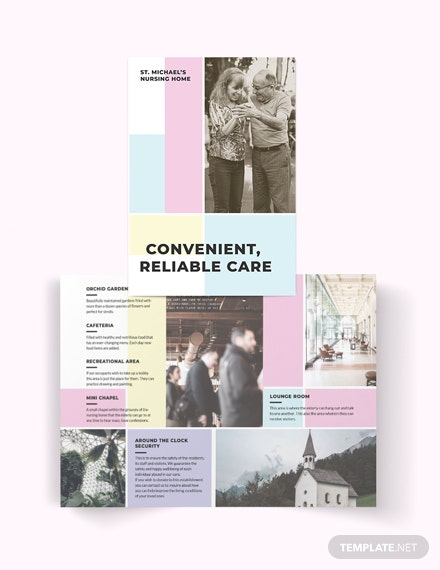 Nursing Home Care Bi-Fold Brochure Template