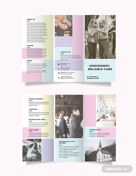 Nursing Home Care Tri-Fold Brochure Template