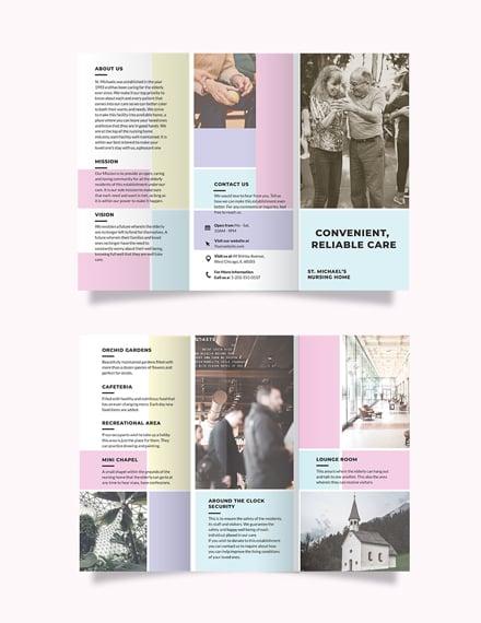 Nursing Home Care Tri-Fold Brochure Template