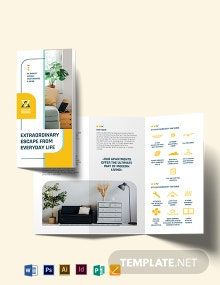Residential Apartment Tri-Fold Brochure Template
