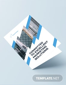 Construction Marketing Bi-Fold Brochure Template