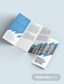 Construction Marketing Tri-Fold Brochure Template