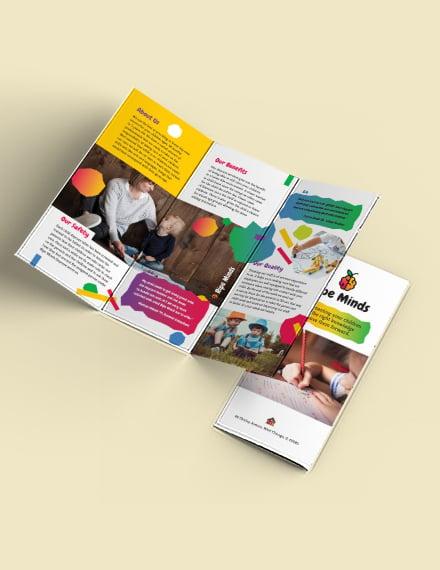Daycare Tri-Fold Brochure Template