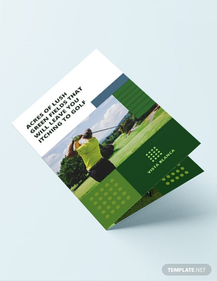 golf course bi fold brochure