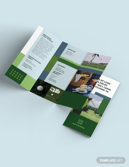 golf course tri fold brochure