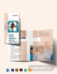 Church Fundraiser Tri-Fold Brochure Template