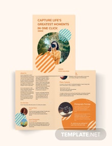 Photography Studio Bi-Fold Brochure Template