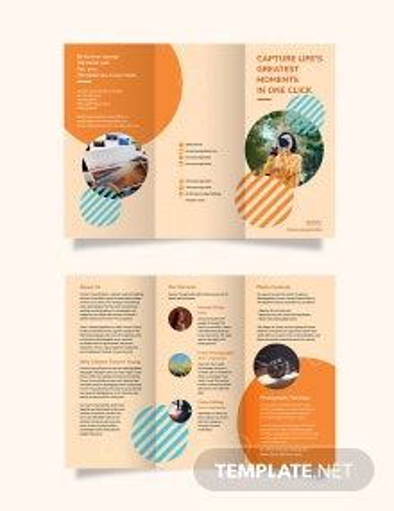 Photography Studio Tri-Fold Brochure Template