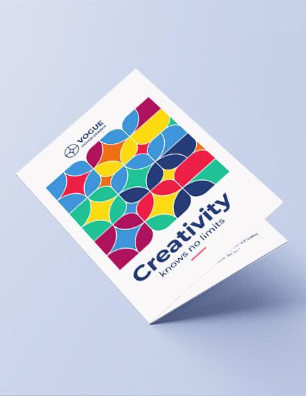 Design Studio Bi-Fold Brochure Template