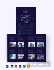 For Sale by Owner Bi-Fold Brochure Template