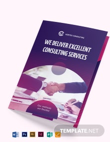 Consulting Services Bi-Fold Brochure Template