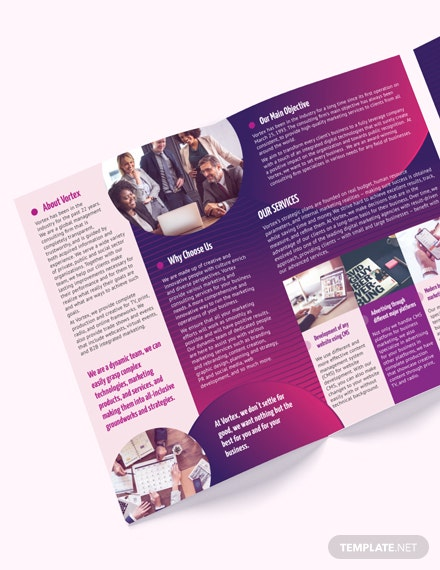 Print Consulting Services BiFold Brochure